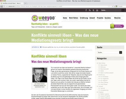 Beitrag im Internet-Portal www.weeyoo.de