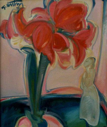 """Stillleben mit Amaryllis"", 2010, Öl / Leinwand, 60 x50 cm"