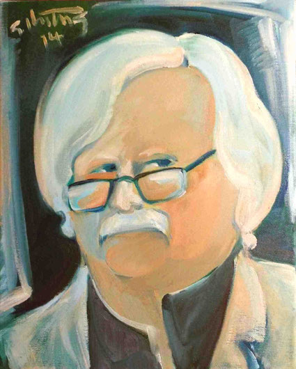 """""""Der Journalist L.G."""", 2014, Öl / Leinwand, 50 x 40 cm"""
