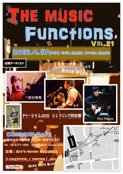 The music functions vol.21 ライブフライヤー