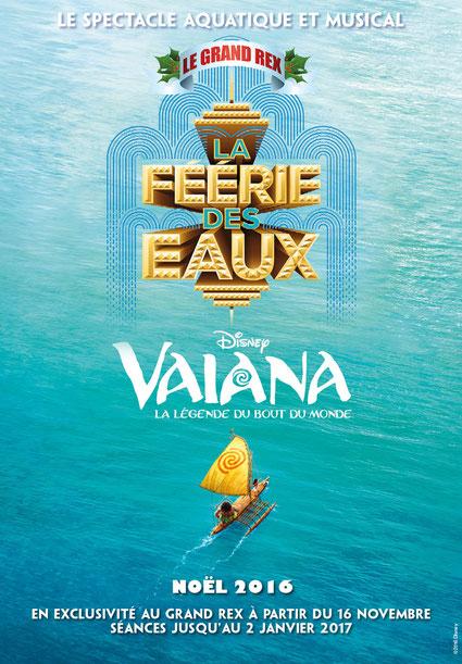 Grand REX 2016 avec VAIANA des Studios Disney