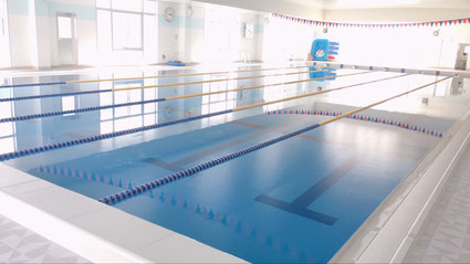 三方原スイミングスクールの25メートルプール