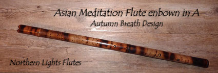Asian Meditation Flute endblown in A - Northern Lights Flutes