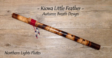 Kiowa Little Feather in Bb - Autumn Breath Design - by Northern Lights Flutes