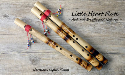 Little Heart Flute - Autumn Breath and Natural Design - Northern Lights Flutes
