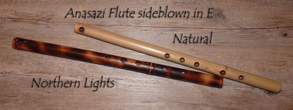 Anasazi Flute sideblown in E Natural and Northern Lights
