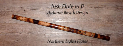 Irish Flute in D - Autumn Breath Design - from Northern Lights Flutes
