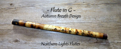 Flute in G - Autumn Breath Design - from Northern Lights Flutes