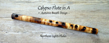 Calypso Flute in A - Autumn Breath Design from Northern Lights Flutes
