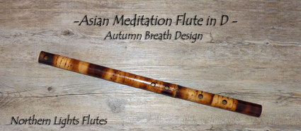 Asian Meditation Flute in D - Autumn Breath Design - von Northern LIghts Flutes