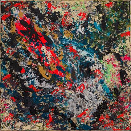 """Titel: """"After Hour"""" (2016), 40 cm x 40 cm"""