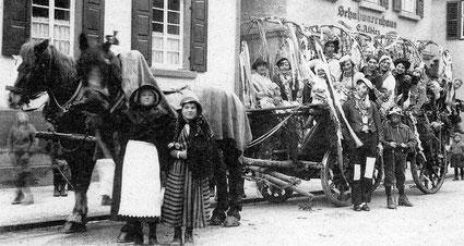 Stockheimer Faschingswagen um 1930