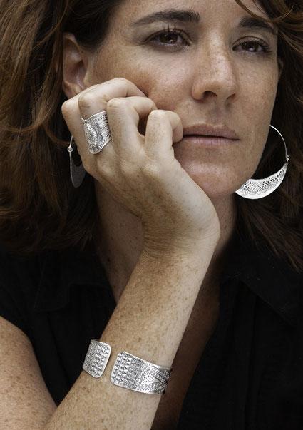 Bague et bracelet argent massif artisanat ethnique