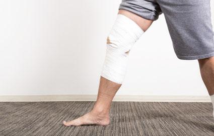腰椎椎間板ヘルニアで膝が痛い女性