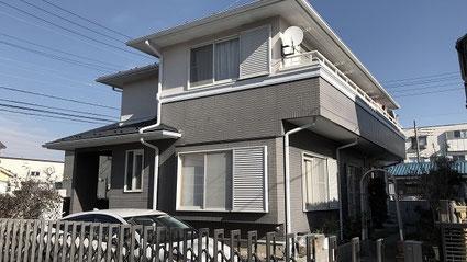 春日部市の戸建住宅、外壁塗装・屋根塗装工事前の写真