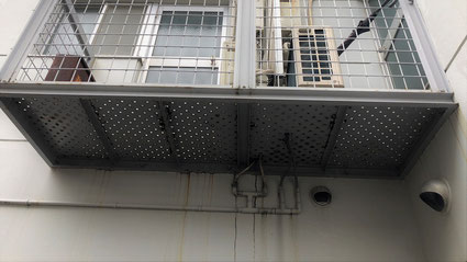 志木市の集合住宅アパート塗装工事前の外壁写真
