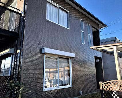 さいたま市岩槻区の戸建住宅、足場、外壁塗装、屋根塗装工事完了の写真