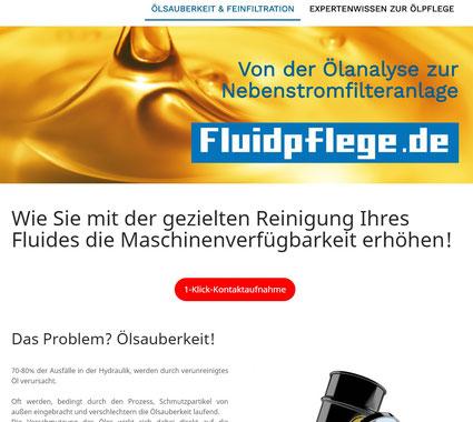 Webseite www.fluidpflege.de