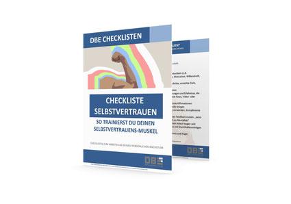 DBE Checkliste Selbstvertrauen | Erfolgsupdates.de