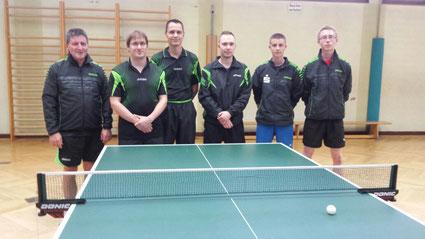 v.l.n.r.:Stefan Brambeer, Michael Unger, Oliver Schumacher, Tobias Krieger (MF), Elias Kreutz und Tomas Frings