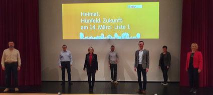 Die CDU-Fraktion in der Hünfelder Stadtverordnetenversammlung