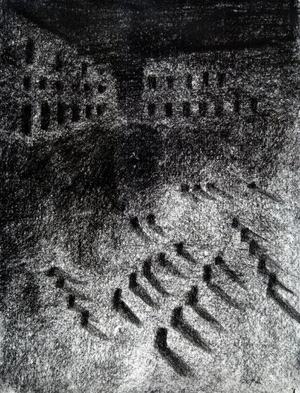 Cementerio 5, 2006 carboncillo 35X28 cm