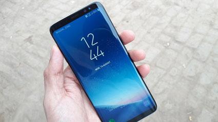 Das Galaxy S8 – wie man sieht ohne Homebutton