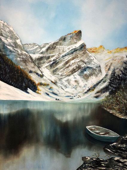 Seealpsee Berge Landschaften Kunstmaler Daniel Gisler Krinau Toggenburg