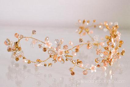 vincha novia, tocado novia, vincha perlas, vincha cristales