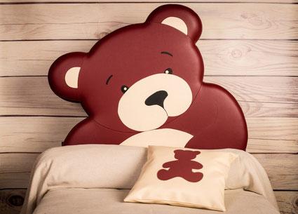 rêves en tête-tête de lit originale artisanale chambre enfant ours