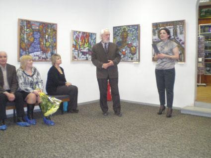 Открытие выставки Д. В. Журавлева