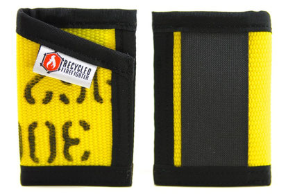 Recycled Fire Fighter Sergeant Slim Wallet
