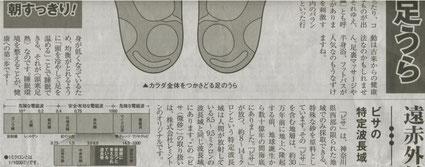 24/8/31読売新聞 健康の宝庫・足うら 微砂を貼るだけで驚きのバワー