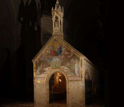 La Porziuncola, nella Basilica di Santa Maria degli Angeli, ad Assisi