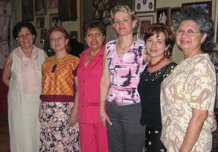 Vereinsvorstand in Mexiko mit Frau Holthaus (Dritte von rechts)