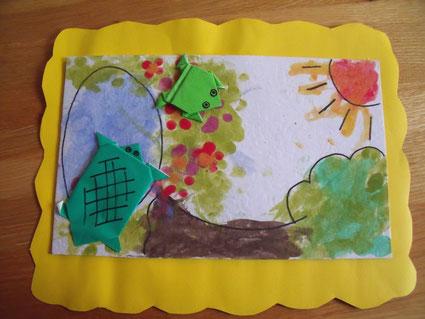 Foto: Geschenk von eines der Kindern in der Schule.