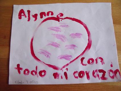 """Foto: """"Alynne, von ganzem Herzen."""" Alter 7 Jahre"""