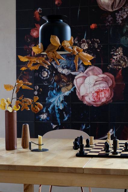 dieartigeBLOG // Esszimmer, Wandbild, IXXI, Herbst, Schach