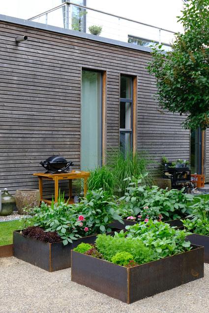 dieartigeGARTEN //June Garden - new high beds / neue Kniehochbeete mit Salat, Zinnien, Dahlien & Co