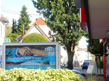 Unser Schaukasten (Ortsmitte von Stuttgart Birkach)  - © AfID-Immobilien