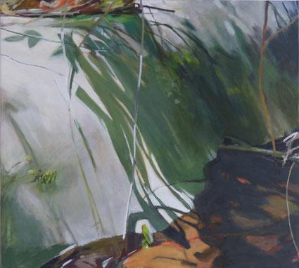 Schlamm August 2016 90 x 100 cm Öl / Leinwand