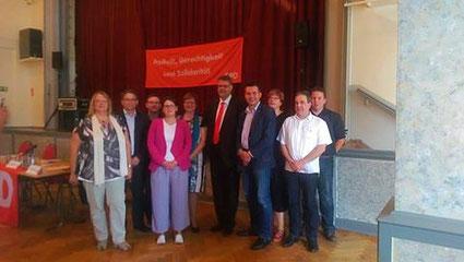 Der neue Vorstand der SPD Landkreis Leipzig