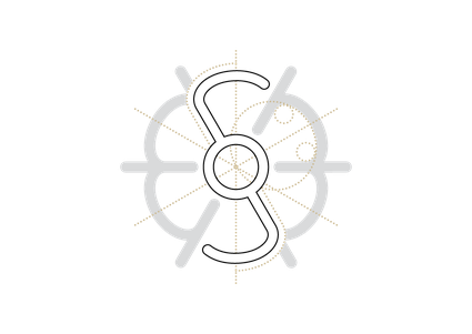 Konstruktionszeichnung: Logo Agnes Musfeldt