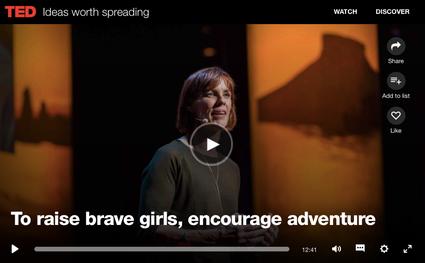 勇敢な女の子を育てるには TEDキャロラインさんトーク画像