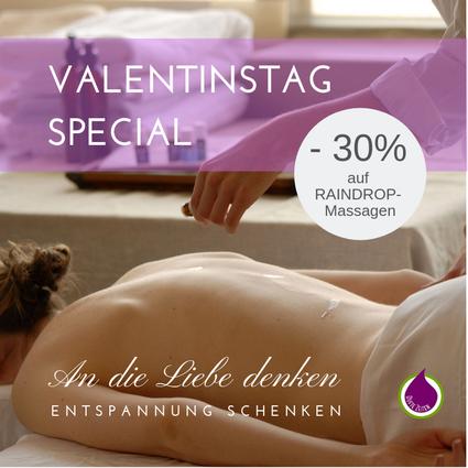 Valentinstag Special Raindrop Massage