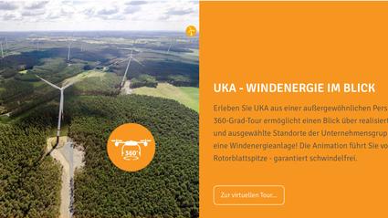 Flightseeing 360° Aufnahmen UKA Windpark Windenergie Luftaufnahmen Drohne