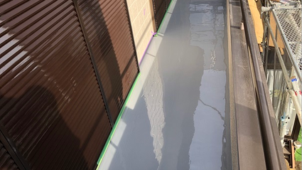 さいたま市岩槻区ベランダウレタン防水工事完了の写真
