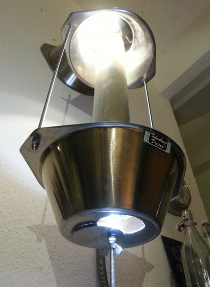kitchenlight modern art licht küchenlampe wallmount led schalter david bergmann inox modern art licht hängelampe