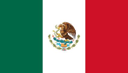 Die Flagge Mexikos / La bandera de mexicó