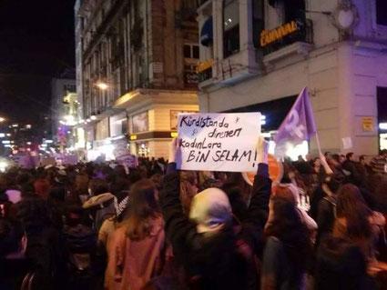 Feministisk 8. marts demo i Istanbul d. 6. marts 2016